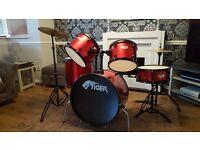 Tiger 5 piece drum kit for sale