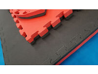 6 x 40mm Jigsaw Mats 1m2 Red/Black Martial Arts Exercise Keep Fit Karate BJJ Kickboxing