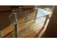 Modern glass tv unit.