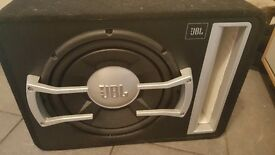 JBL 1200W subwoofer and 360W amplifier