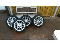 BMW M Sport 17 inch alloys with tyres