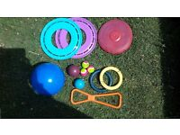 large selection of dog toys, £8