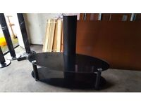Black Glass Table Stand