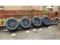 Alloys wheels with tyres for Landrover defender/range rover