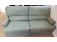 Green Sofa with chair and ottoman
