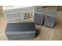 ***** EXCELLENT Mordaunt Short MS304 Centre & pair of MS302 Satellites & Wall Brackets *****