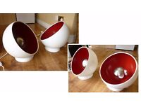 Set of 2 Modern Floor Lamps Lights Table Lamps Round Globe Ball Lamp Light Home