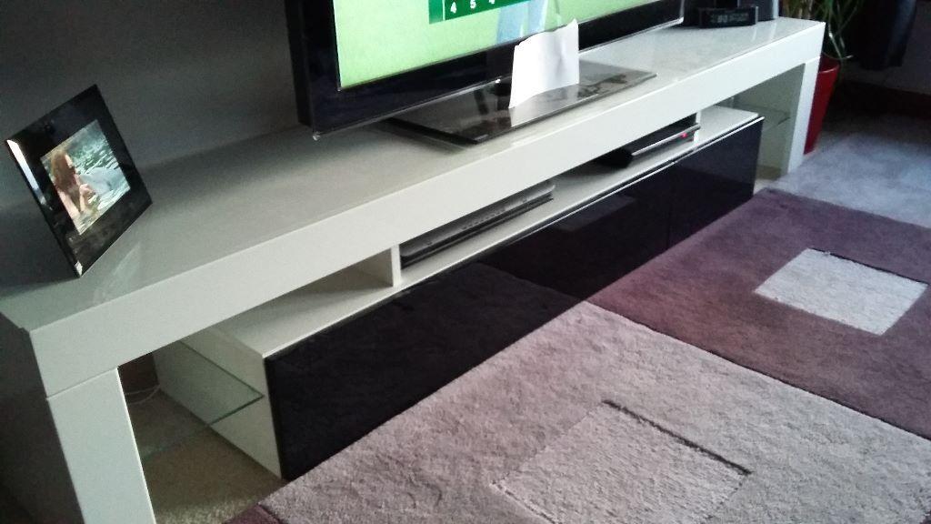 TV Stand Unit Board Lowboard Cabinet Lima V2 White  High  -> Tv Lowboard Lima