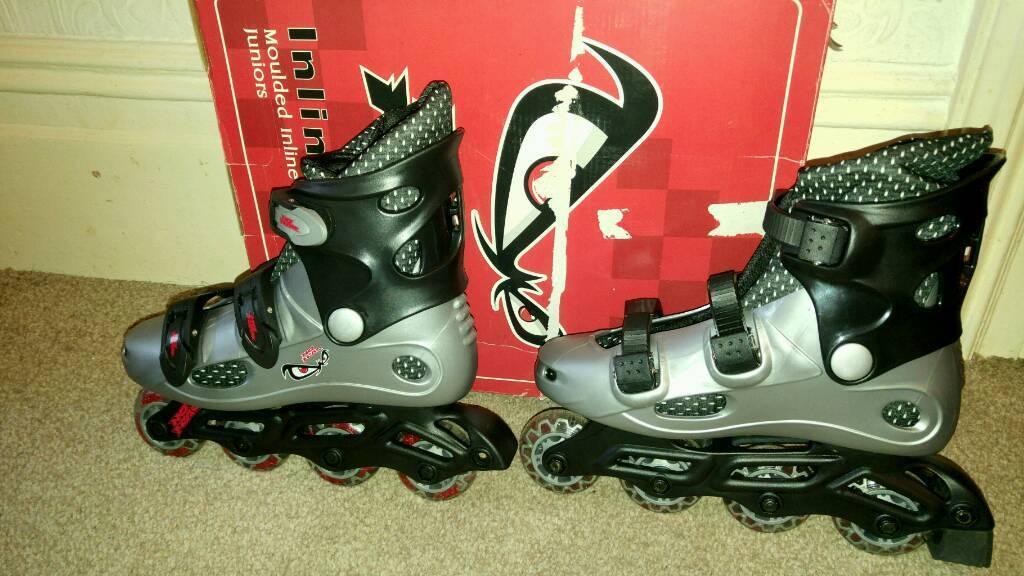 No fear inline roller skates size 5