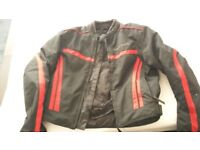 Milano Sport black/red motorbike Jacket