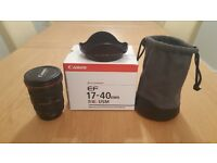 Canon EF 17-40mm f4 L lens for sale