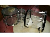 DW Design Series Acrylic 4 Piece Shell Pack +3 dw stands All boxed mint