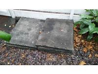 7 York Stone Paving Slabs, 74cm x 59cm