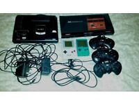 4 Retro Consoles (Megadrive, Master System, Gameboy, and Gameboy Pocket) + Games