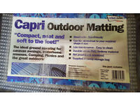 Supreme Breathable 2.5 x 7m Blue/Grey Check Caravan Awning Carpet Tent Groundsheet £25 ono