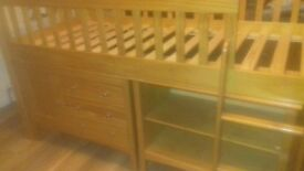 M&S Cabin bed with drawers