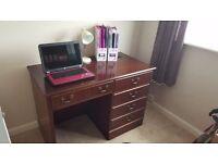 Mahogany office desk
