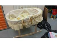 Baby Moses basket and mattress