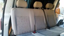 Vw T5 Transporter Rear Triple Seat In Corner Fabric