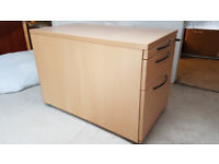 3 drawer pedestal under desk filing cabinet drawer x2
