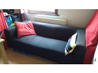 Sofa, 2 to 3 persons, black cotton cover, free