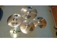 Sabian B8 full cymbal set with Paiste splash