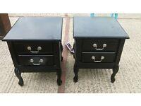 Black wooden bedside drawers. cabinet modern