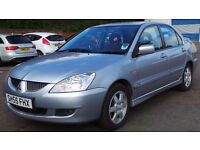 2005 55 MITSUBISHI LANCER 1.6 SILVER MOT 07/17 (CHEAPER PART EX TO CLEAR)