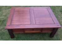 Solid Real Wood Coffee Table
