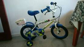 "Kids 14"" Police bike with stabilisers"