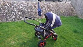 Camarelo 3-in-1 Blue Buggy Pushchair Car Seat
