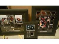 Film cells. Iron man and Spiderman
