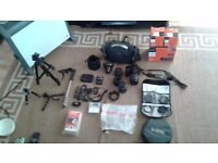 Sony A65 SLR camera, with accessories
