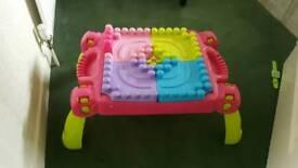 Table for mega blocks