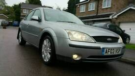 2003 LOW MILES FORD MONDEO GHIA X 24V 8 MONTHS MOT PART SERVICE HISTORY