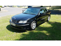 2006 SAAB 9-3 LINEAR 1.9 TiD 159 BHP CONVERTIBLE TURBO DIESEL BLACK