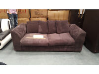 Code 81 - Jackson 3 Seater Chocolate Poor Condition - 2 Years Old £79 must go!