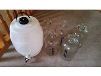 Home brew 5l demi johns and 25l plastic keg