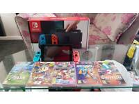 Wii switch and 5 games