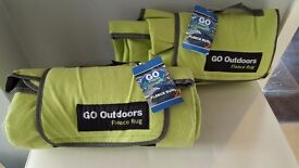 Go Outdoors fleece rugs x 2 new