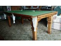 Antique Riley snooker table