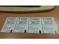 4 chessington tickets