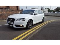 AUDI A3 S LINE BLACK EDITION QUATTRO 53K FULL MAIN DEALER SERVICE NATIOWIDE WARRANTY IS AVAILABLE
