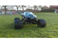 HPI SAVAGE X 5.9 WITH ENOUGH SPARES TO BUILD ANOTHER 90%