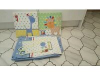 Baby boys nursery curtains & pictures