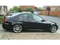 e90 bmw 325i m-sport*low miles*fsh*heated leather*paddle shift*sat nav*96k*p/x 4x4!!