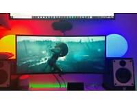 LG 34 inch 3440x1440 75hz Ultrawide gaming monitor - LG 34UC88-B