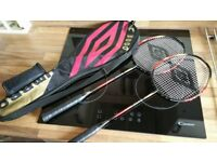 New Set Of Umbro Graphite Badminton Racquets Set With Carry Case Sports Equiptment