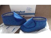 Cosyfeet Eliza blue foral slippers size 5
