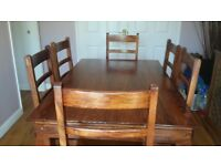 Sheesham dining room table & x6 chairs
